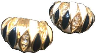 Nina Ricci Vintage Gold Metal Earrings