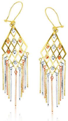 FINE JEWELRY 14K Tri-Color Gold Chandelier Earrings