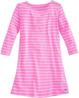 Vineyard Vines Girls Knit Stripe Neon Tisbury Dress