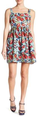 Romeo & Juliet Couture Floral Ruffle Fit & Flare Dress
