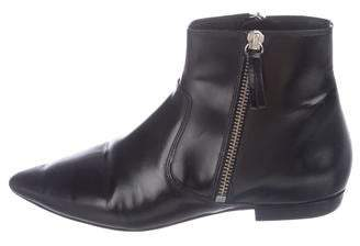 Etoile Isabel Marant Leather Pointed-Toe Ankle Booties