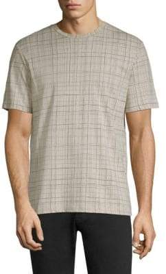 Theory Slim-Fit Check Jersey Tee