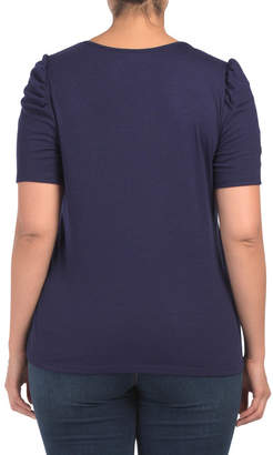 Plus Made In Usa V-neck Top