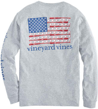 Vineyard Vines Long-Sleeve Baseball Flag Pocket Tee