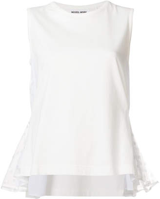 Muveil tulle side panel blouse