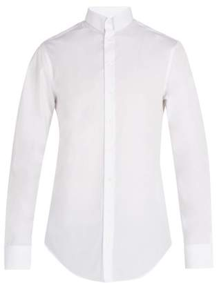 Giorgio Armani Press Stud Collar Cotton Shirt - Mens - White