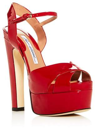 Brian Atwood Women's Madison Patent Leather High-Heel Platform Sandals