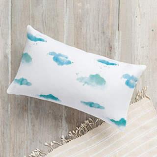 Watercolor Clouds Lumbar Pillow