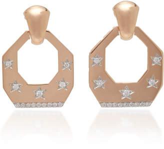 Luce Melis Goral Luna 14K Rose Gold Diamond Earrings