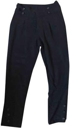 Comptoir des Cotonniers Black Cotton Trousers for Women