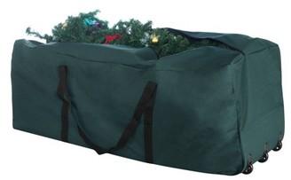 DTX Intl 1019 Elf Stor Premium Green Rolling Christmas Tree Storage Duffel Bag for 9 Ft Tree