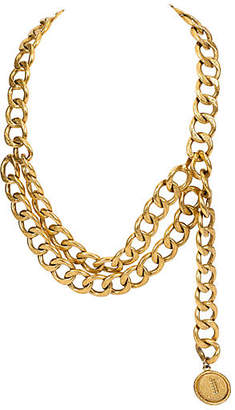 One Kings Lane Vintage Chanel Double Textured Chain/Belt - Vintage Lux