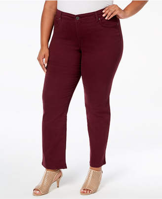 Style&Co. Style & Co Plus & Petite Plus Size Tummy Control Straight-Leg Jeans, Created for Macy's