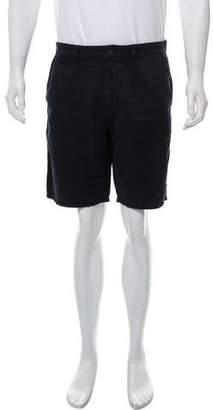 John Varvatos Embroidered Flat Front Shorts