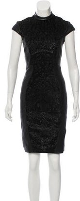 Reiss Leather Knee-Length Dress $150 thestylecure.com