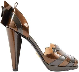 Prada Grey Patent leather Heels