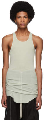 Rick Owens Grey Basic Rib Tank Top