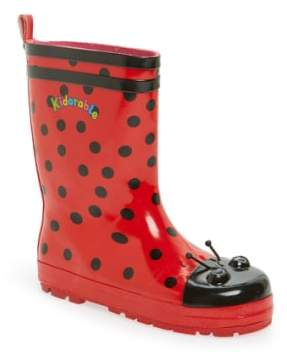 Kidorable 'Ladybug' Waterproof Rain Boot