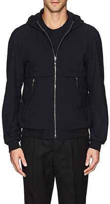 Giorgio Armani MEN'S WOOL-BLEND SEERSUCKER HOODED JACKET