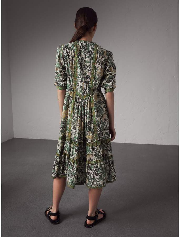 Burberry Beasts Print Cotton Day Dress
