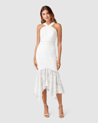 Forever New Sky Embroidered Fishtail Dress