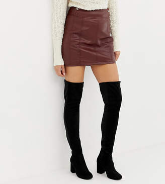 Asos Design DESIGN Wide Fit Kadi heeled tHIGH HIGH BOOTS