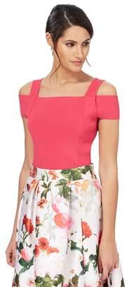 Debut Pink Cold Shoulder Plus Size Top