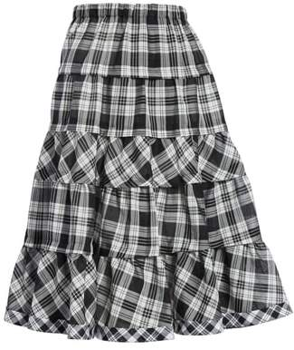 Comme des Garcons Tiered Plaid Skirt