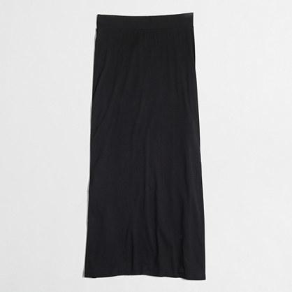 J.Crew Factory Factory jersey maxi skirt