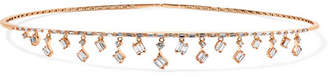Suzanne Kalan Dangle 18-karat Rose Gold Diamond Choker