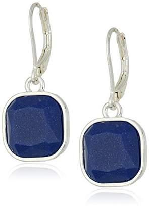 Chaps Women's Square Drop Leverback Earrings