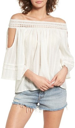 Women's Sun & Shadow Off The Shoulder Top $49 thestylecure.com