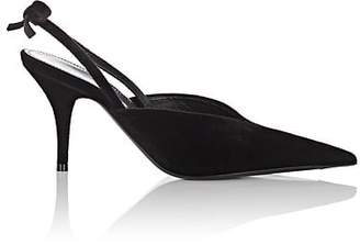 Balenciaga Women's Bow-Embellished Velvet Slingback Pumps - Black