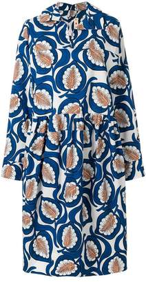 Marni leaf print shirt dress
