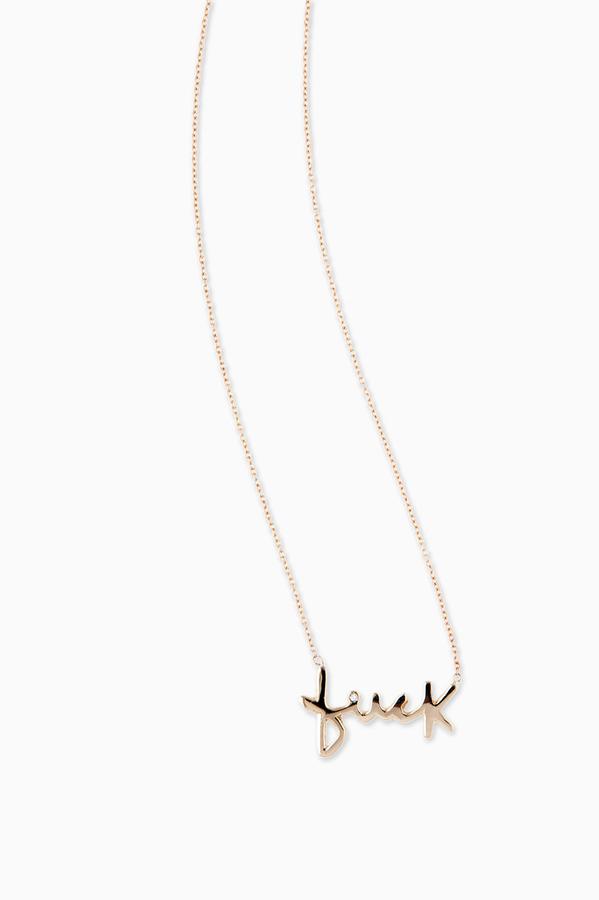 Jacquie Aiche Jewelry Fuck Necklace