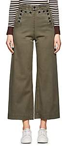 A.L.C. Women's Pierce Stretch-Cotton Twill Sailor Pants - Md. Green