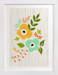 Woodland Wallflowers Art Print