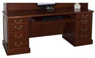 Charlton Home Seavey Executive Desk with 3 Right & 3 Left Drawers Charlton Home