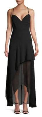 BCBGeneration Sleeveless Chiffon Maxi Dress