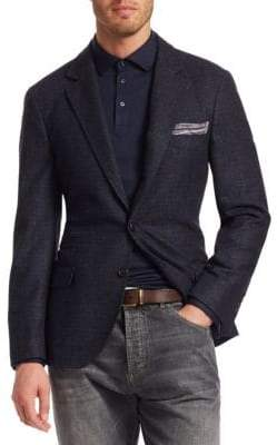 Brunello Cucinelli Textured Notch Lapel Sportcoat