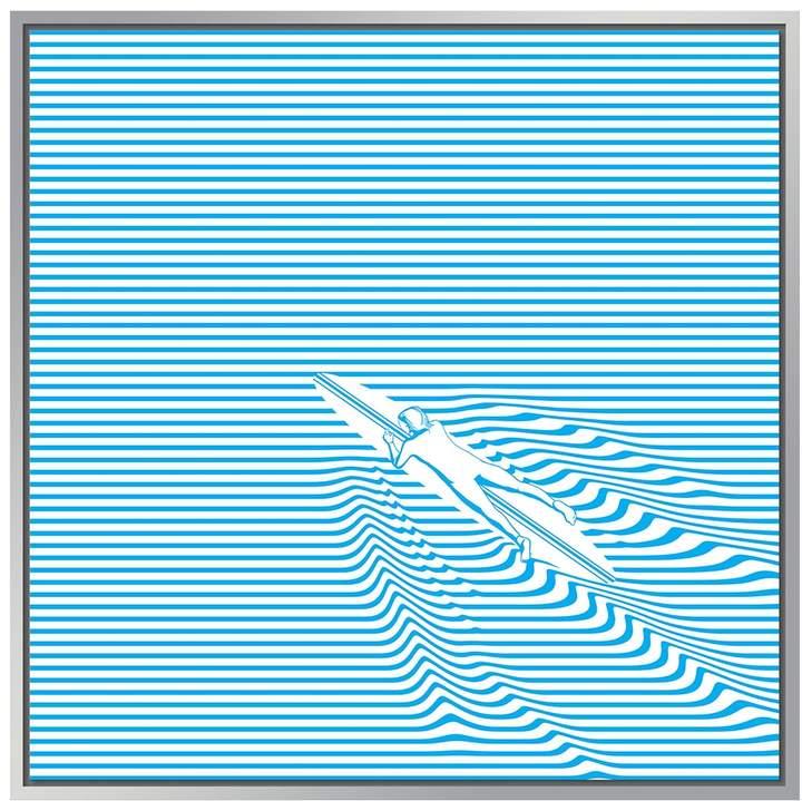 Jonathan Bass Studio Surf (Framed Canvas)