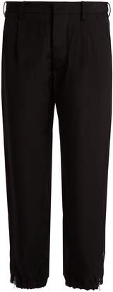 Marni Twill tapered cropped-leg trousers