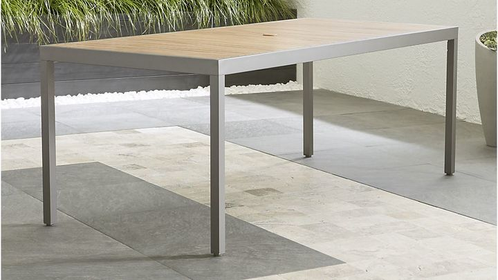 Crate & BarrelAlfresco Natural Rectangular Dining Table