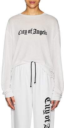 "ADAPTATION Women's ""City Of Angels"" Cotton-Cashmere Long-Sleeve T-Shirt"