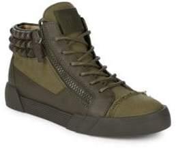 Giuseppe Zanotti Stud Collar Mid-Top Sneakers