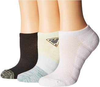 Columbia PFG Ombre No Show 3-Pack Women's No Show Socks Shoes