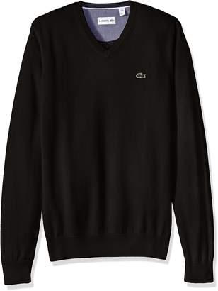 Lacoste Men's Cotton Jersey V-Neck Sweater, AH0347-51
