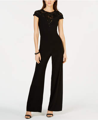 b2ea09153c19 at Macy s · Adrianna Papell Embroidered Illusion Jumpsuit
