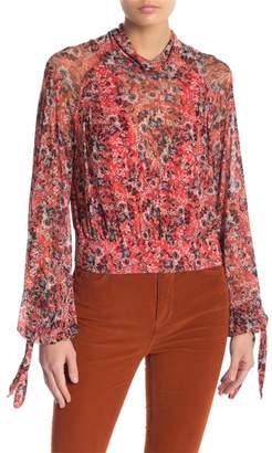 Free People All Dolled Up Mesh Blouse