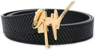 Giuseppe Zanotti Design logo embellisged belt